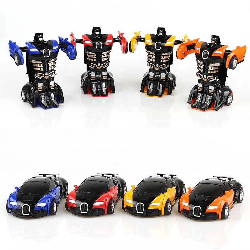 Cool transformed deformation robot changed kids baby children educational toy car