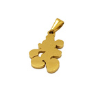 funny Mickey jewelry mouse gold pendant Stainless Steel engrave logo lovely locket chain