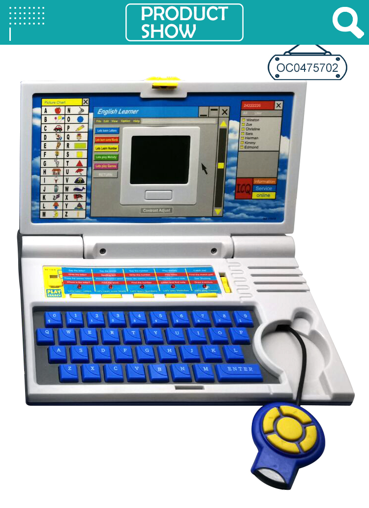 Classic intelligent educational toys laptop for kids learning machine