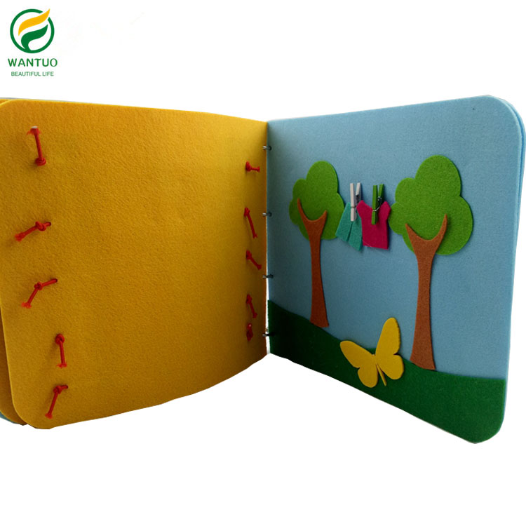 Kids Early Education Cognitive Development Learning Book Felt Quiet Book