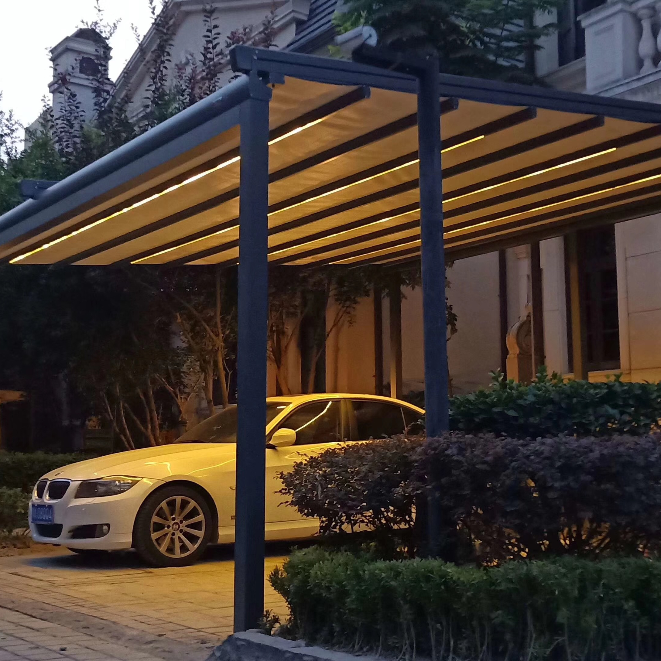 Conservatory Cheap Collapsible Modern Auto Metal Bio-climatic Building Easily Assembled Motorized Rainproof Aluminum Awning