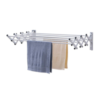 Wireking Wall-mounted Bathroom Towel Hanger Hotel Durable Aluminum Clothes Drying rack Towel Dryer