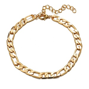 Women gold plated jewelry  silver anklets for women foot jewelry