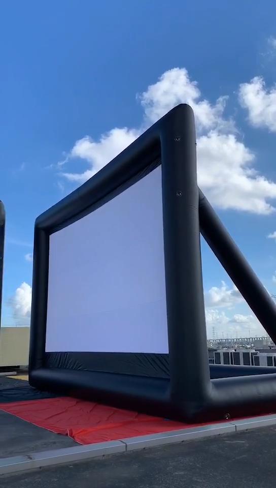 Commerciële Draagbare 5M/16ft Commerciële Outdoor Grote Cinema Projector Filmscherm Opblaasbare