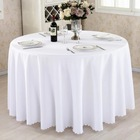 Wholesale Polyester Custom Plain Table Cloth Wedding Hotel Restaurant Party 70/90/108/120 Round White Tablecloths