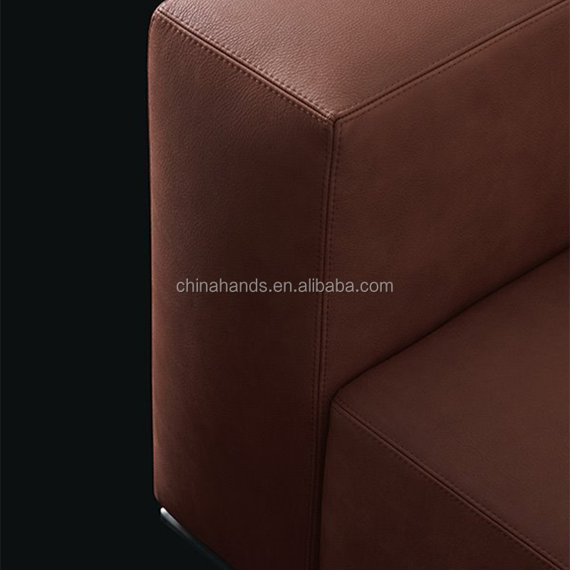 MoMA Autograph Sale Adjustable Genuine Leather Hotel Room Furnitures Royal Stackable Chair Stainless Steel Sofa