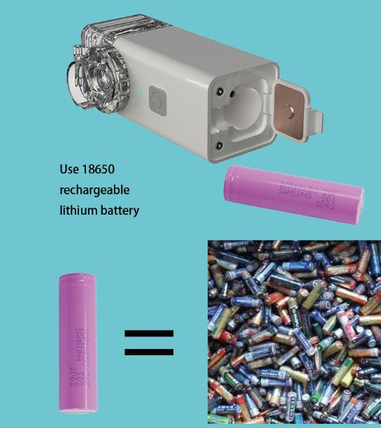 1800mA rechargeable battery portable mute mini USB ultrasonic inhaler mesh nebulizer