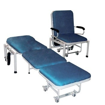 Medical Manual Foldable Attendant Bed Cum Chair For Hospital