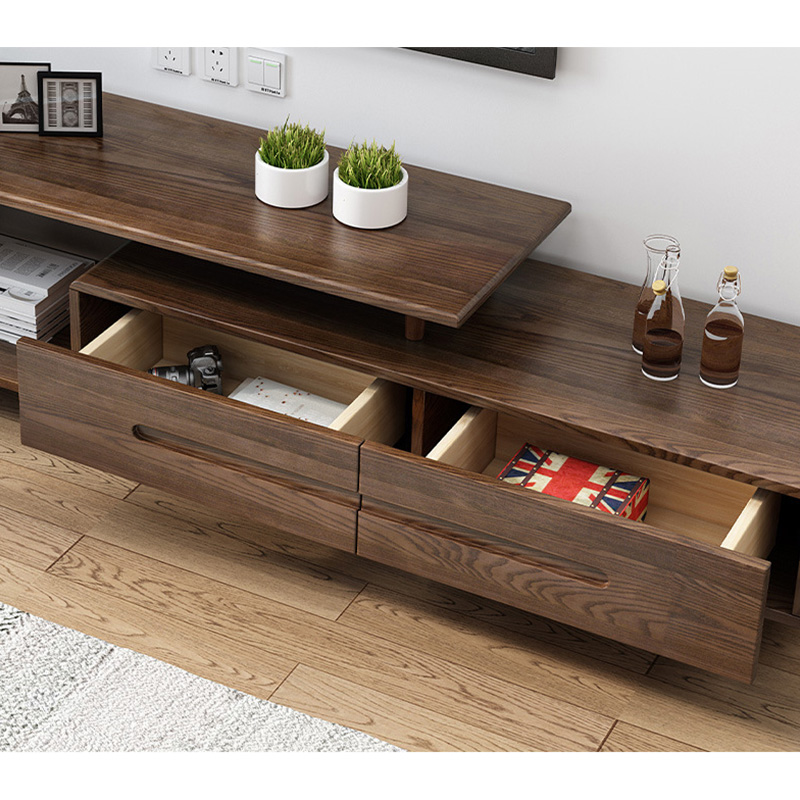 product-BoomDear Wood-Modern wooden tv stand furniture extendable real wood tv cabinet designs for l-1
