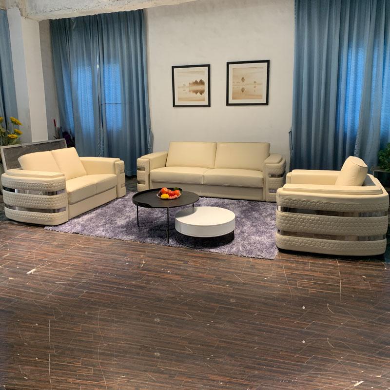 High-end custom white modern living room sofas furniture Luxury italian chesterfield leather sofa Sectional loveseats