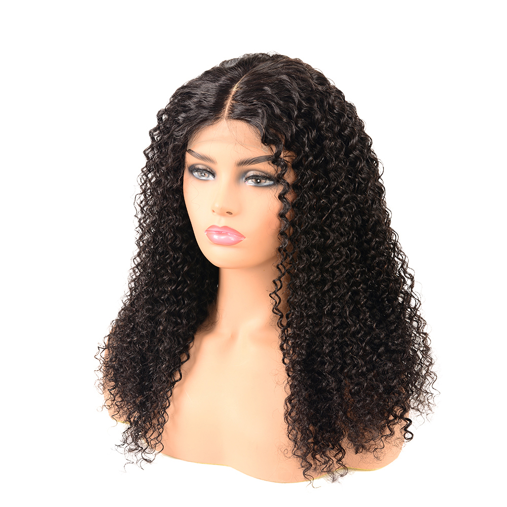 50% Off Discounts Cheap One Donor Woman Lace African Jerry Curly Human Hair Closure Wig With Cuticles Aligned фото