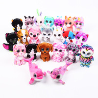 TY Beanie Boos Rainbow Unicorn Plush Toy For Kids Big Eyes Soft Baby Toy Unicorn Stuffed Animal Gifts Wholesale Custom