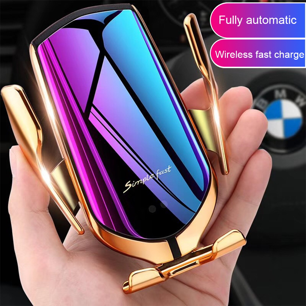 Wholesale 10W Car Mount R1 Wireless Charger Infrared Smart Sensor Automatic Air Vent Holder Fast Wireless Charger