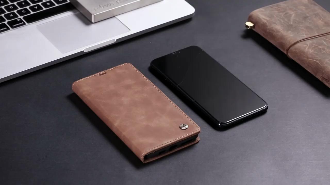 Caseme Harga Murah untuk Xiaomi Redmi Note 8 Pro Ponsel Cover Leather Case Magnet Stand untuk Xiaomi Mi10 Dompet cover