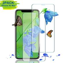 3D Gebogen 0.33MM Clear Transparant Gehard Glas screen protector voor iphoneXS Max