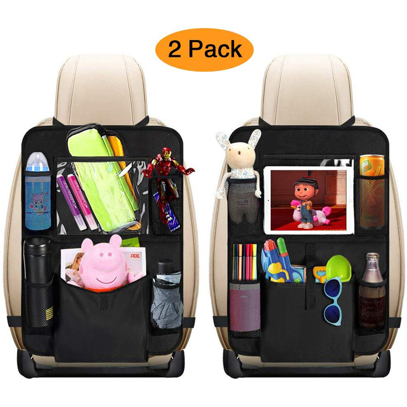 Автомобильный Органайзер на заднее сиденье, тканевый чехол, органайзер на заднее сиденье автомобиля, органайзер для коляски, 2 упаковки