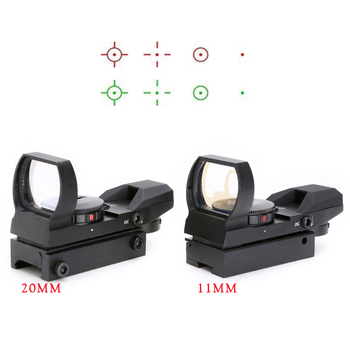 SPINA OTTICA 4 Reticolo Rosso Punto Verde 1X22X33 Scope con 11mm e 21mm ferroviario base red dot reflex sight