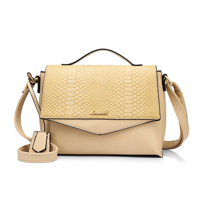 Женская сумка на плечо LOVEVOOK, не большая сумока на плечо со змеиным принтом и кисточкой, беловатая сумка на плечо с регулируемым ремешком, из ...(Китай)