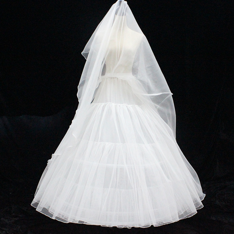 P8957 Hot sale Fashion Long Hoop Crinoline Mermaid Bridal Petticoat