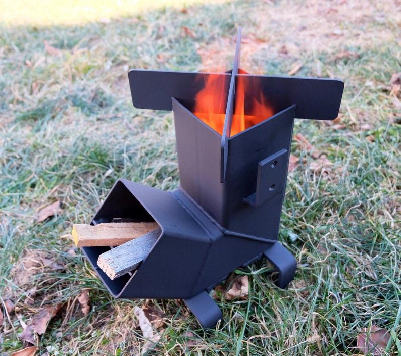 Collapsible Wood Stove durable multi use Camping Rocket Stove