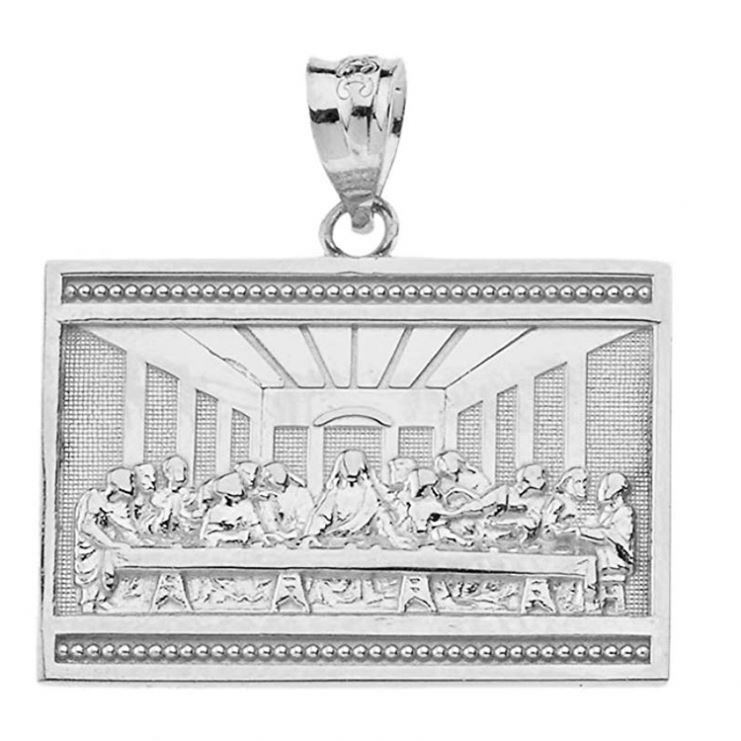 925 Sterling Silver The Last Supper Of Jesus With His Disciples Pendant