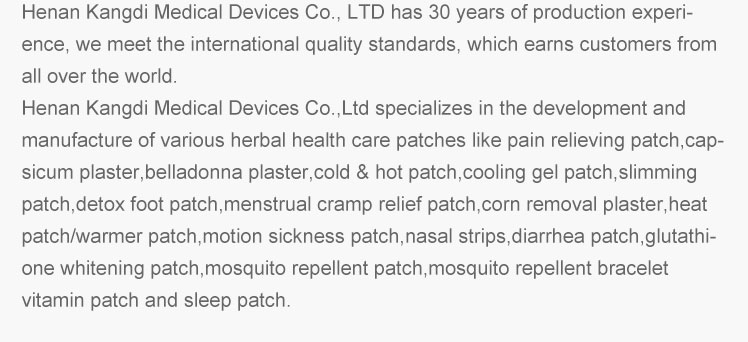 Hot sale  chinese medicated analgesic plaster pain relieving patch