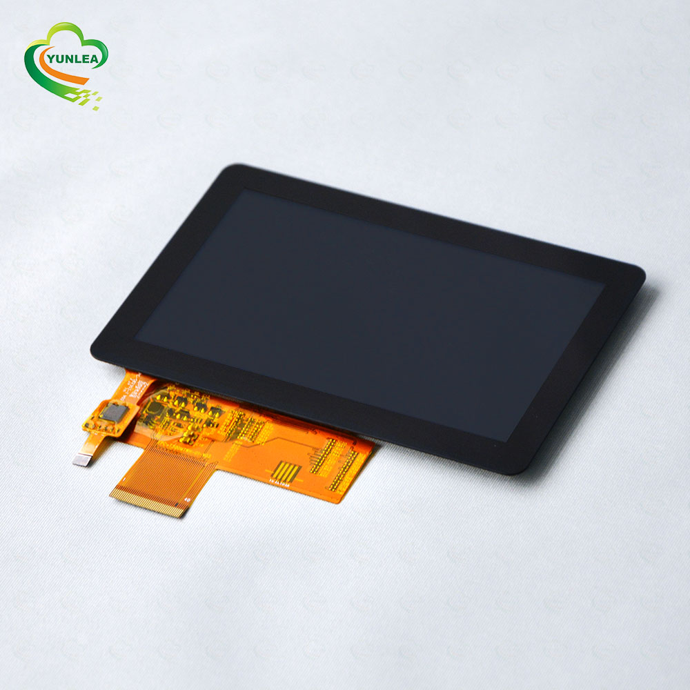 Outdoor Sunlight available 800x480 dots RGB interface PCAP anti vandal 5 inch capacitive touch screen display