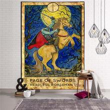 Гобелен мандалы, настенный подвесной ковер в стиле «колдовство», хиппи, пляжный ковер, луна, путешествия, бохо, богемный арт, психоделически...(Китай)