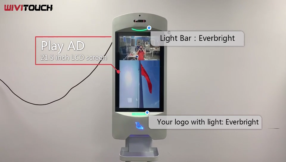 New 21.5inch  Display 5000 ml Hand Sanitizer Capacity Wall Mount Display Digital Signage With Auto Hand Sanitizer Dispenser