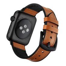 Кожаный силиконовый ремешок для apple watch 44 мм 40 мм ремешок iwatch серии 5 4 3 2 1 браслет 38 мм 42 мм аксессуары замена запястья(Китай)