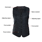 Vest Usb Heated Vest 3 Degree Button Controlled USB Power Bank Electric Charging Sweater Heated Vest