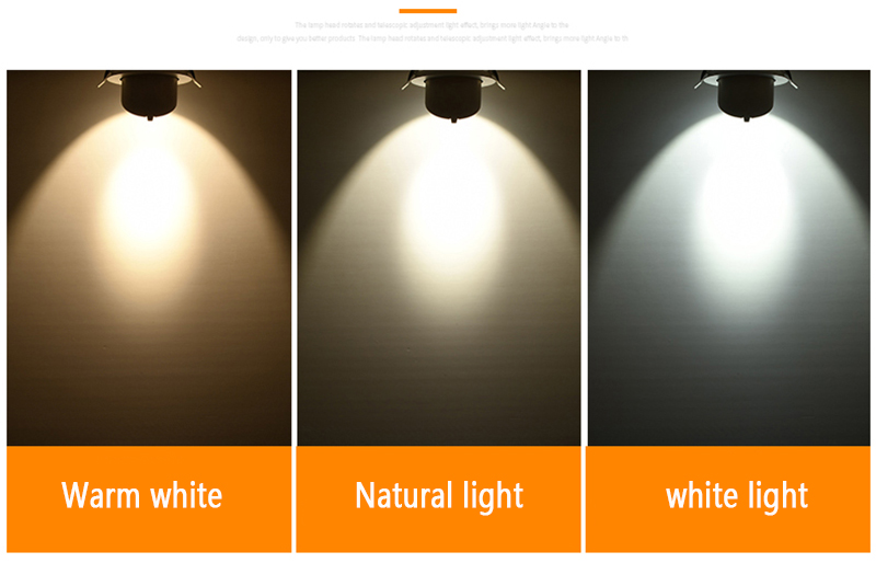 High Quality 7W 10W 15W 30W White Aluminum COB Indoor Recessed LED Spotlight Lamp Ceiling LED Spot Light