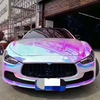 Ondis 2019 New Product Top quality rainbow chromw sliver Self Adhesive Metal Car Wrapping Vinyl