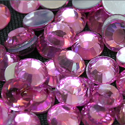 dress design crystal material crystal 10mm flat back acryl resin stone 10mm rhinestones