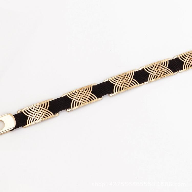 width 1.5cm fashion decorative waist metal belts