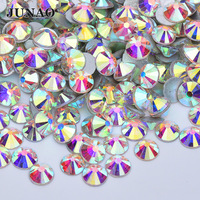 120 Color SS3 SS6 SS10 SS12 SS16 SS20 SS30 SS50 Round AB Crystal Strass Flatback Glass Crystal Rhinestones For Cloth DIY Crafts
