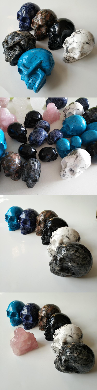 Healing crystals labradorite fluorite crystal skulls stone hollow carved