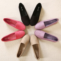 New Candy Color Round Head Slip on Flat Casual Moccasins Driving Walking Court Loafer Ballet Shoe for Woman Spring Autumn