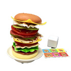 Hot Popular Hamburger Toy Pretend Play Food Games 14 Pcs Stacking Burger For Kids