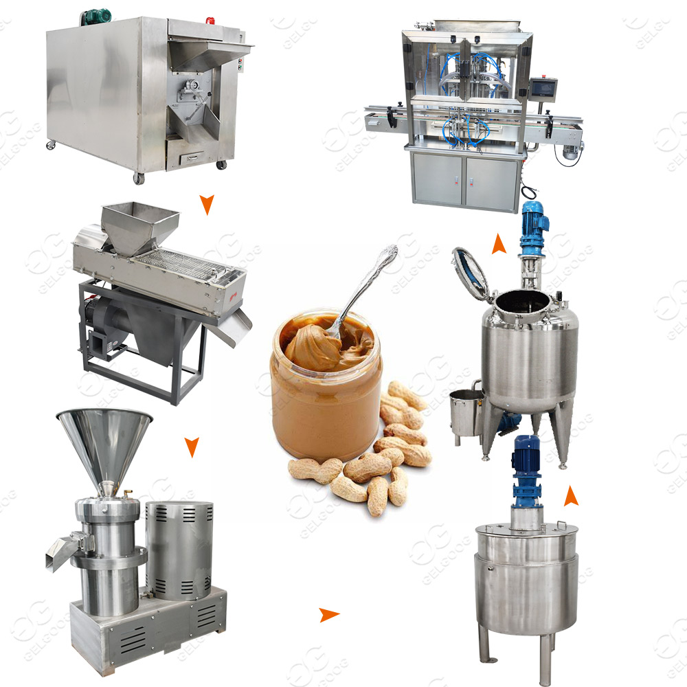 Full Automatic Industrial Peanut Butter Making Machine Peanut Butter Production Line