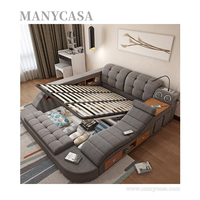 New Fashion Smart Bed Multifunction Storage Leather Bed Tatami Bed With Massage Music
