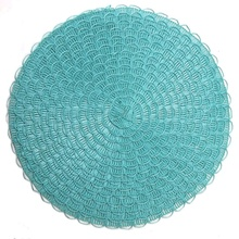 Tabletex  Fashion PP Round Weave Placemat Dining Table Mat Disc Pads Bowl Pad Hot