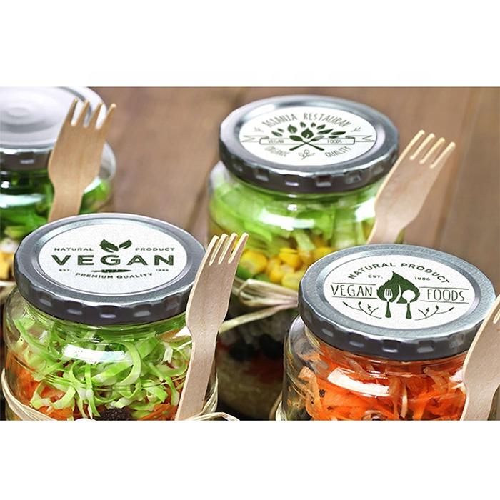 customised round bottle cap roll sticker printing etikketen rectangle glossy laminated paper labels for jars