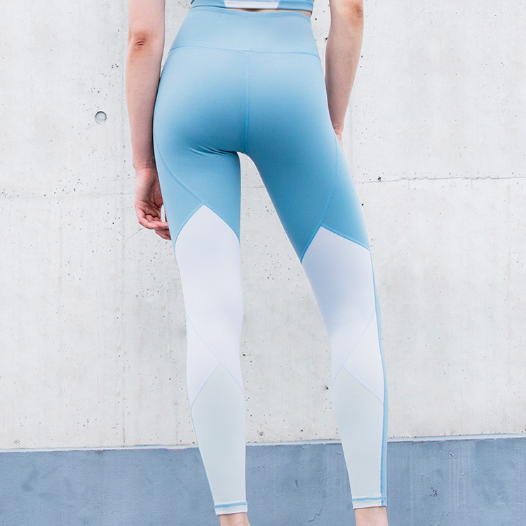 womens high elastic Solid color yoga leggins custom made Quick drying tight yoga pants
