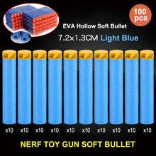 100 шт. NERF аксессуары для пистолета 7,2 см EVA полые мягкие пули присоски пули, игрушечный пистолет, снайперский пистолет, аксессуары, игрушки дл...(Китай)