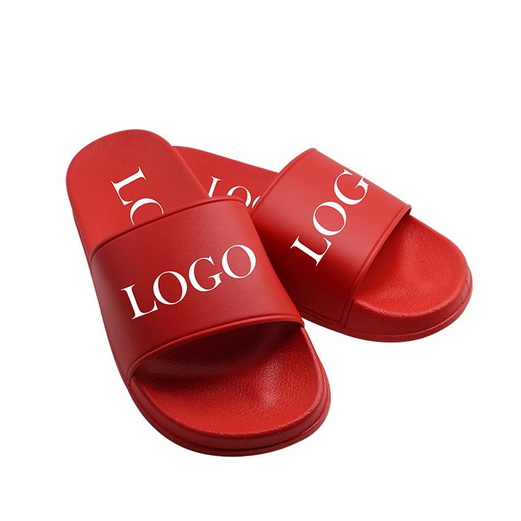 Wholesale Factory Price Black Unisex Men Women Custom Logo Blank Slides Slippers Footwear