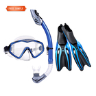 Guangzhou dive gear set silicone scuba diving mask snorkel fins set