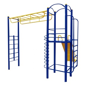 Kids Slide and Climb Ladder Combination Exercise Device Outdoor Fitness Equipment for Kids