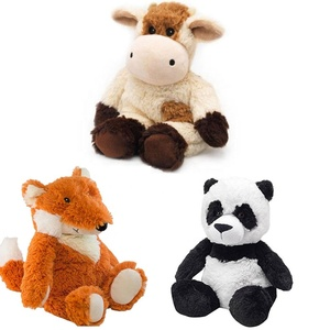 Microwavable Plush Toy Stuffed Animal Plush Pal with Natural Micro-Beads for Soothing Warmth Plush Heatable Fox Panda Cow