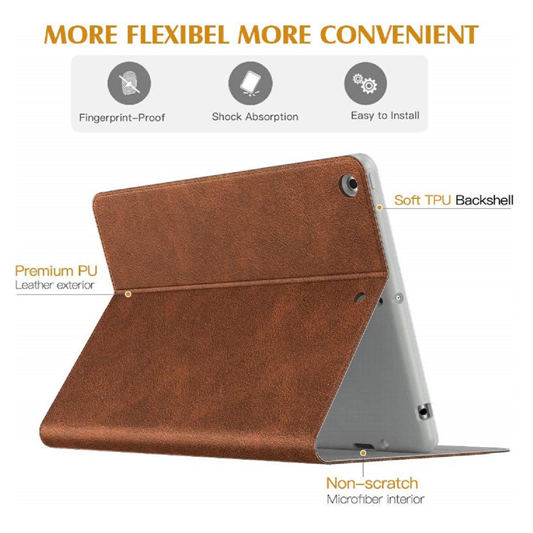 MoKo Full-Body Shockproof Smart Shell Trifold Stand Cover for iPad 10.2 7th Generation 2019